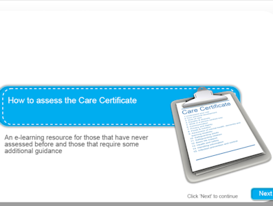 A screengrab from the e-learning